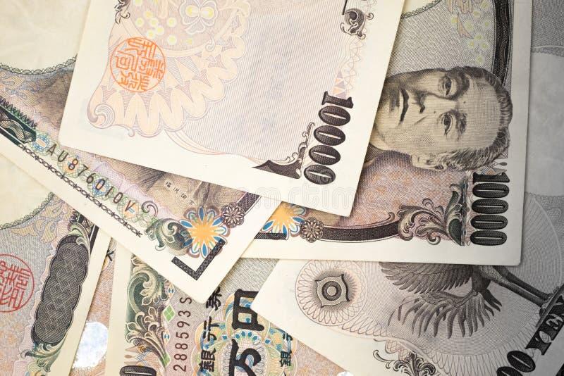 Billetes de banco japoneses del dinero foto de archivo