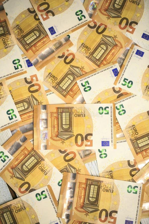 50 billetes de banco de los euros imágenes de archivo libres de regalías