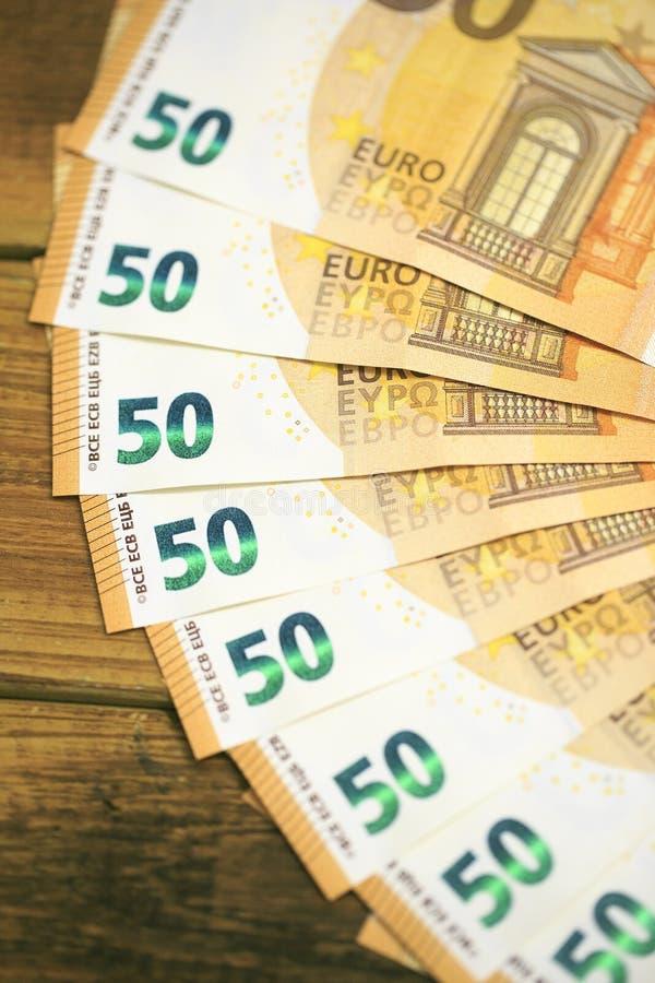 50 billetes de banco de los euros fotos de archivo libres de regalías