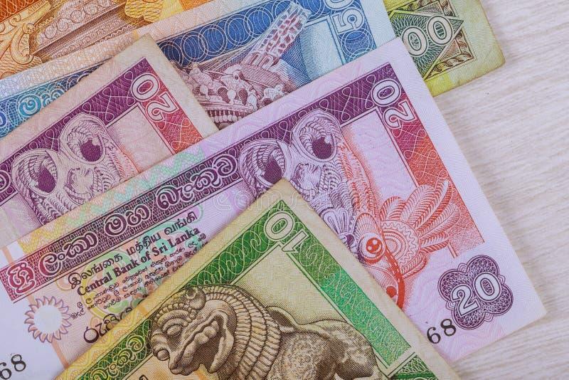 Billetes de banco de Sri Lanka la divisa nacional imagen de archivo