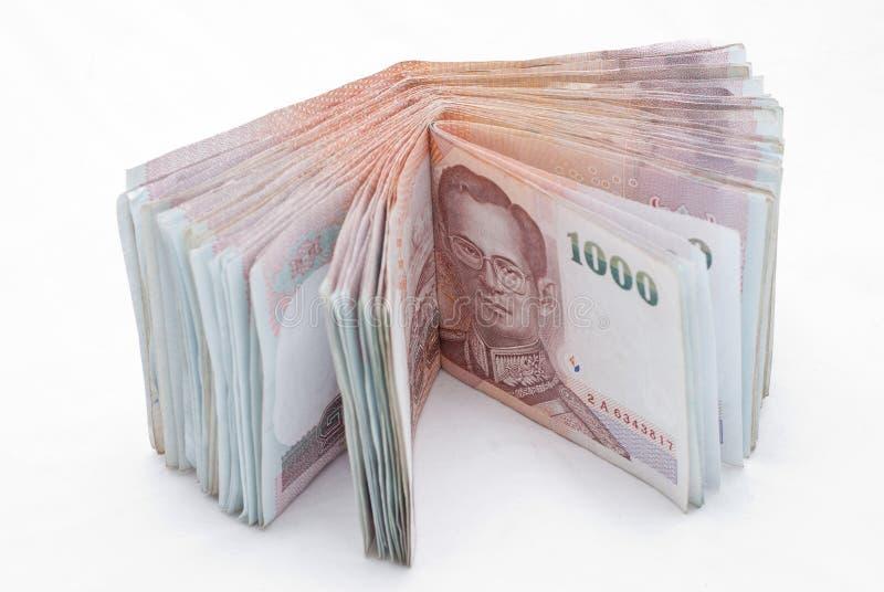 Billetes de banco tailandeses imagen de archivo