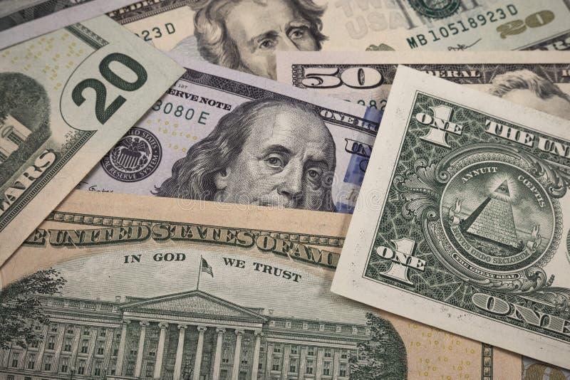 Billetes de dólar de Bankontes fotografía de archivo