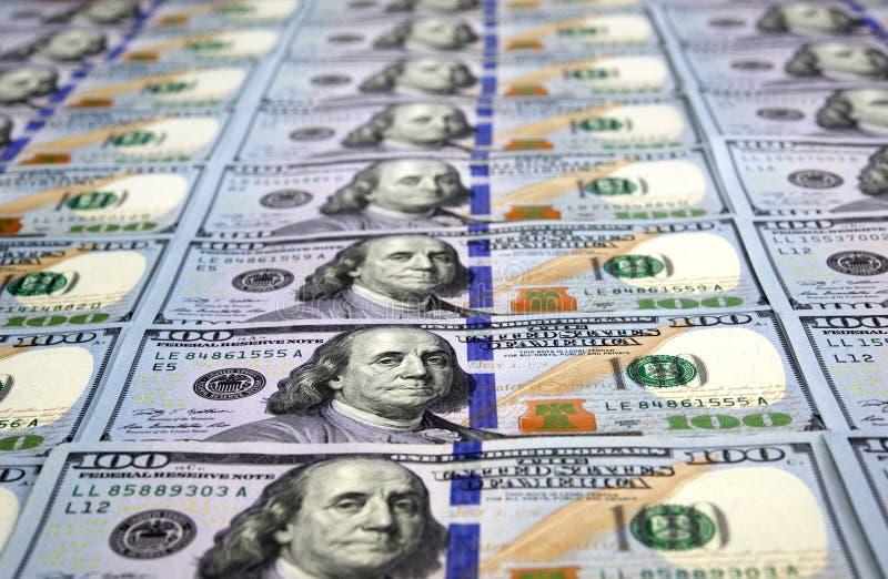 Billetes de dólar del nuevo ciento imágenes de archivo libres de regalías