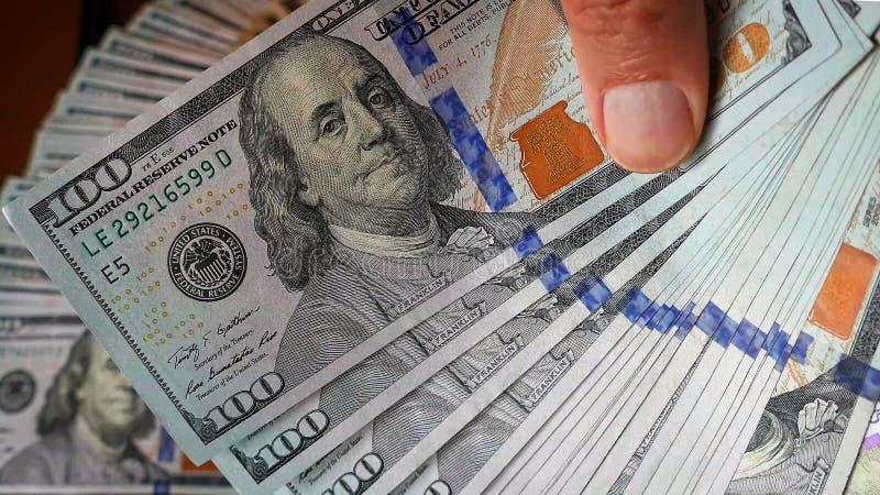 Billetes de 100 dólares foto de archivo