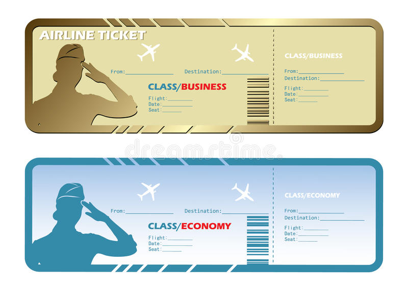 Billets d'avion illustration stock