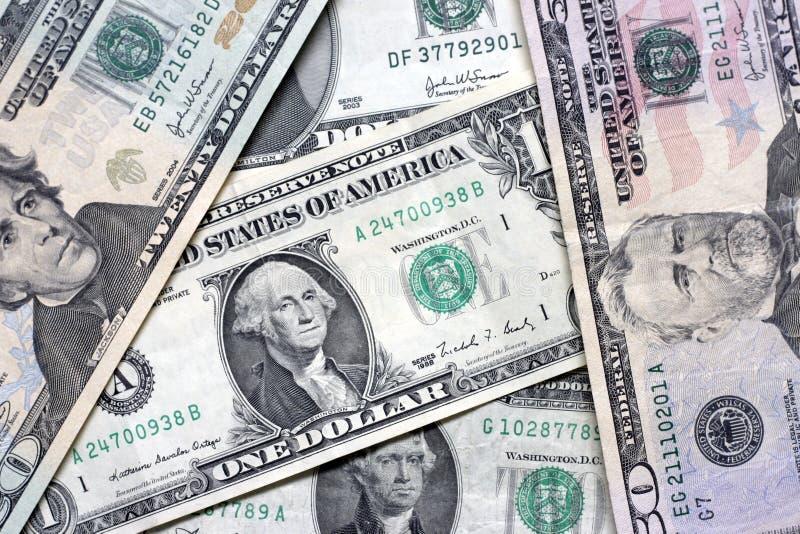 Billets d'un dollar image libre de droits