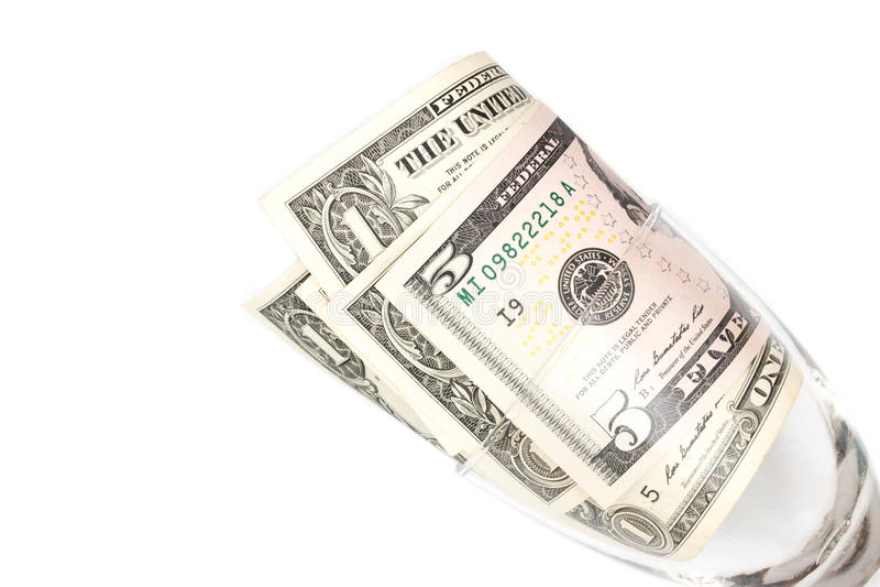 Download Billets D'un Dollar En Verre Sur Le Fond Blanc Image stock - Image du barre, choc: 76086047
