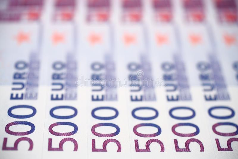 500 billets de banque d'euros photos stock