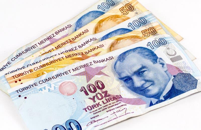Billets de banque de Lire turque - Front View images stock
