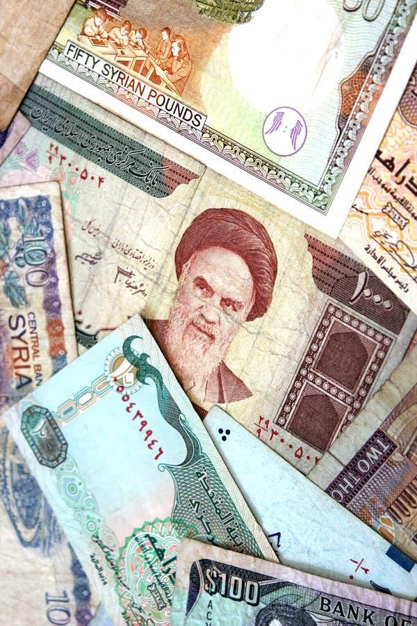 Billets de banque de Moyen-Orient images libres de droits