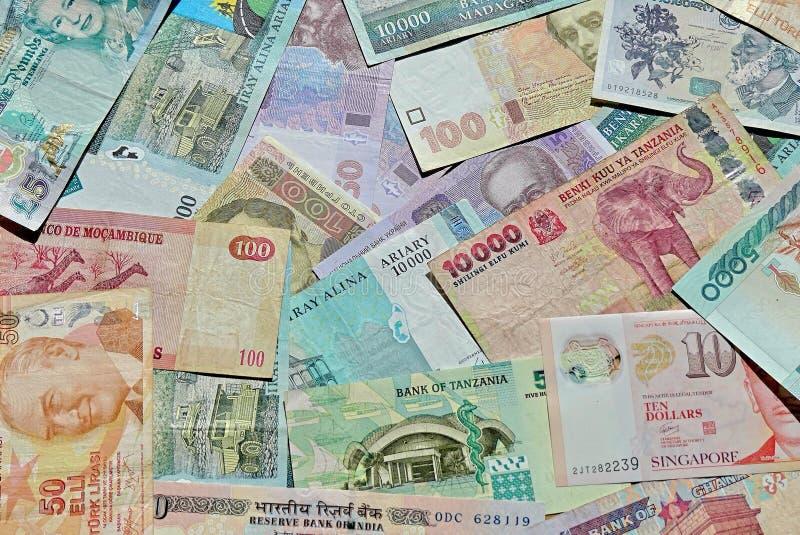 Billets de banque du monde photo stock