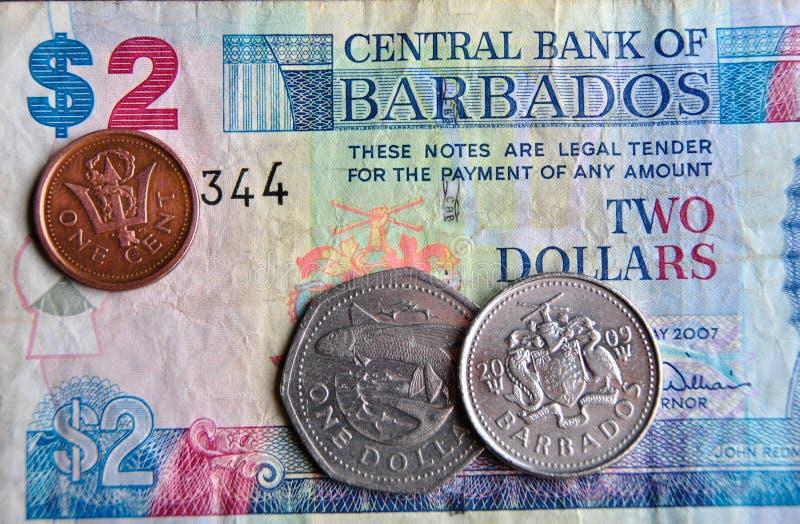 Billets de banque et pièces de monnaie photos libres de droits