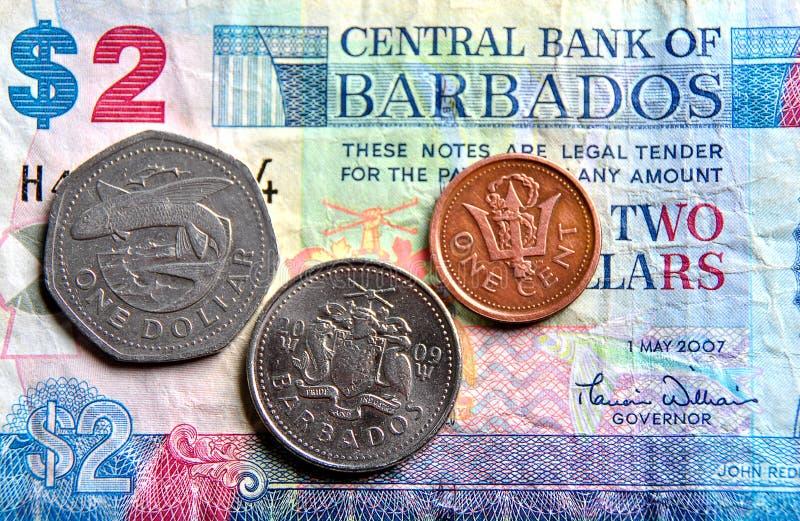 Billets de banque et pièces de monnaie images stock