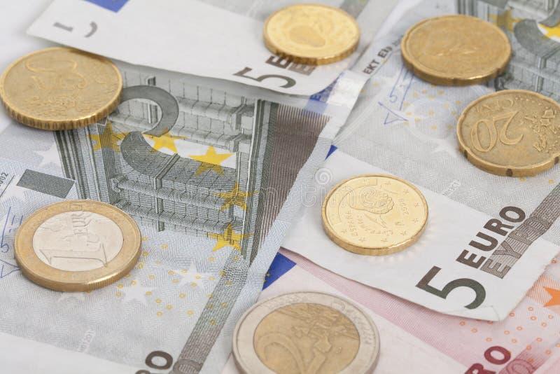 Billets de banque et pi?ces de monnaie images libres de droits