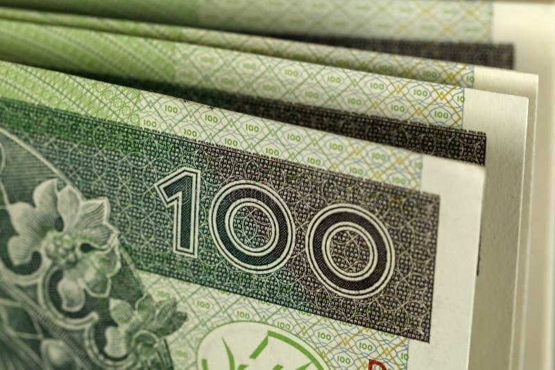 Billets de banque polonais de zloty images libres de droits