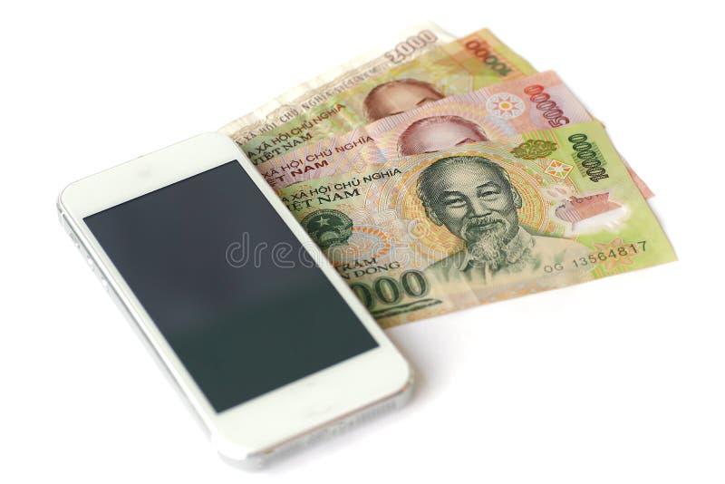 Billets de banque vietnamiens de Dong de devise photographie stock libre de droits