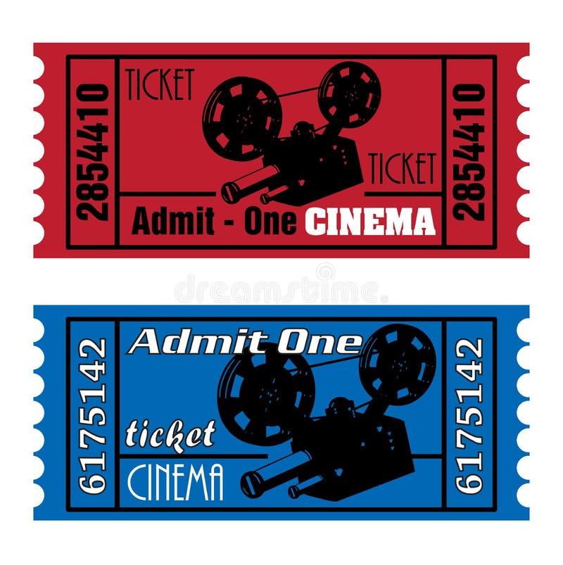 Billets de cinéma illustration stock