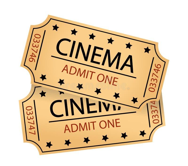 Billets de cinéma illustration libre de droits