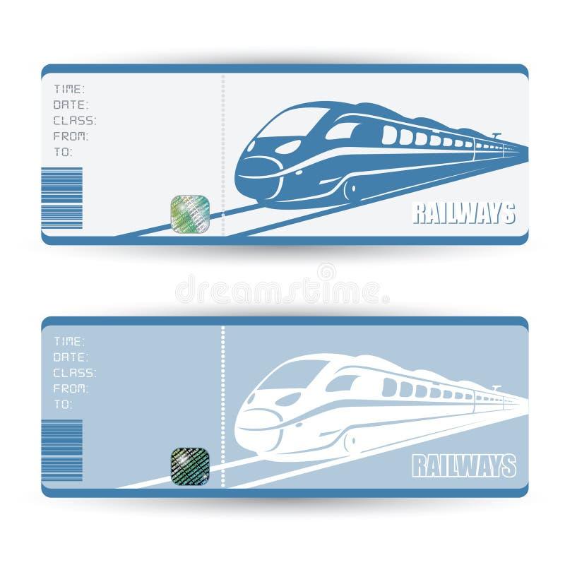 Billets de train illustration stock