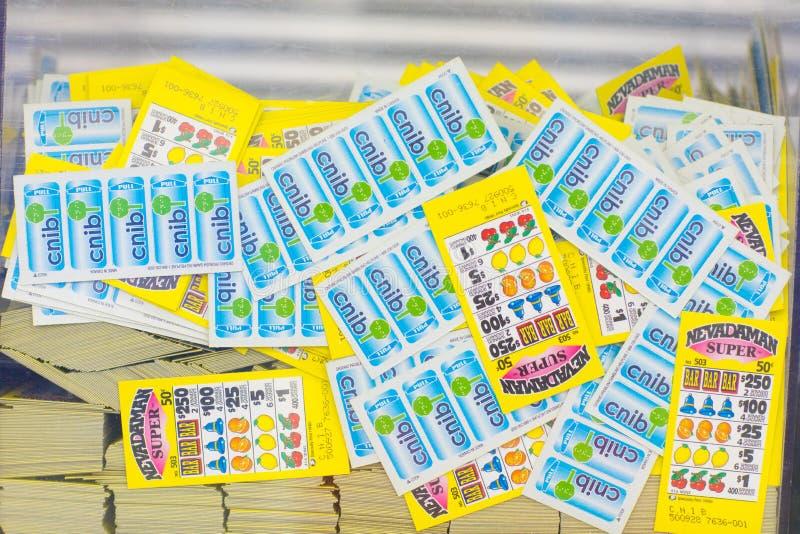 Billets et bons de loterie photos stock