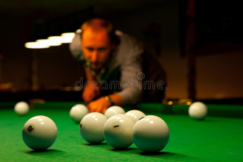 Billiard stockfoto