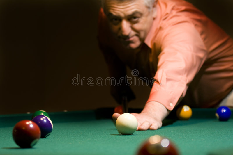 billiard royaltyfri foto