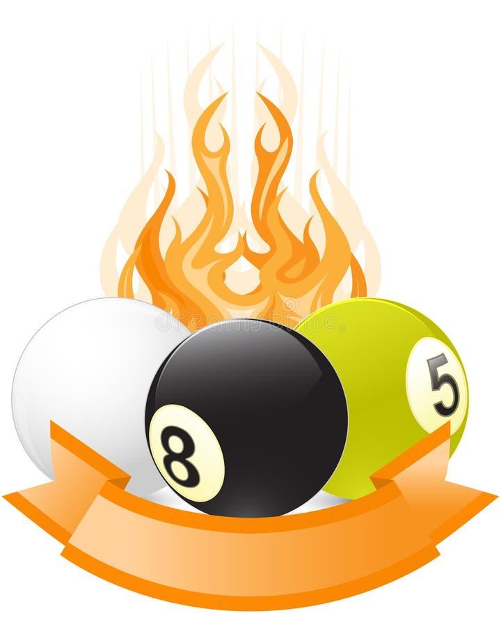 Download Billiard Ball Emblem  In Flame Stock Vector - Image: 20304072