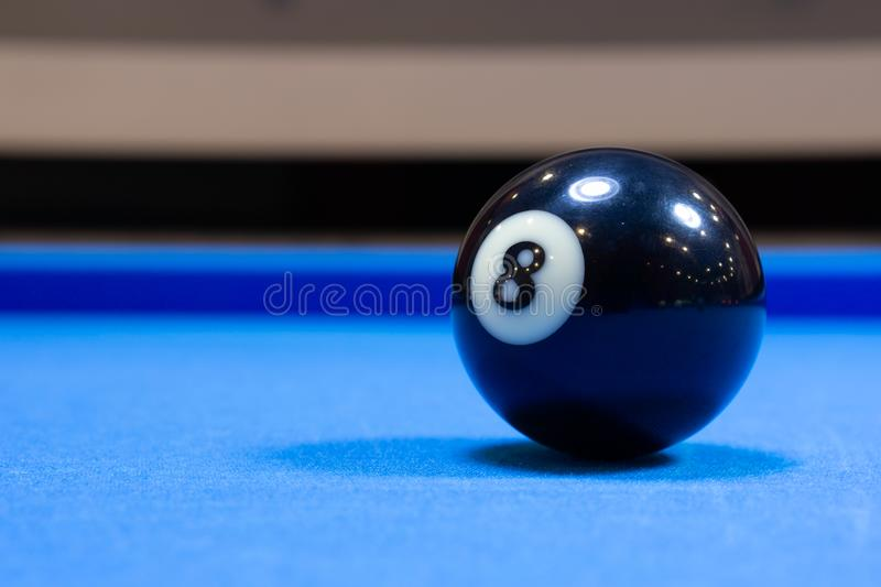 Billiard ball number 8 stock images
