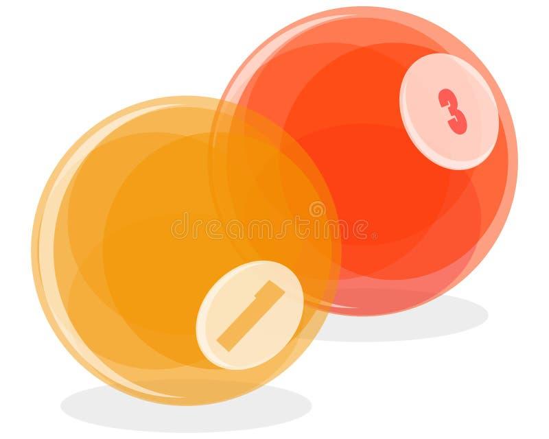 Billiard balls vector illustration