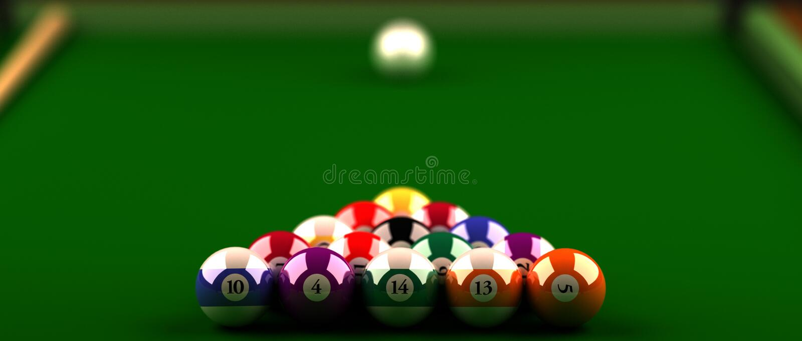 Billiard balls stock illustration