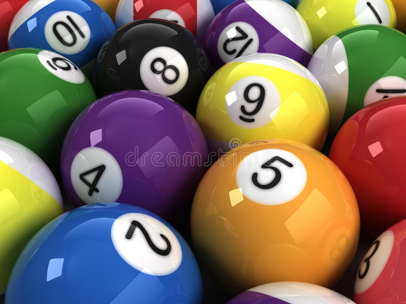Download Billiard balls stock illustration. Image of striped, ball - 17221137
