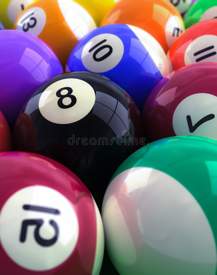 Download Billiard balls stock illustration. Image of action, leisure - 23240094