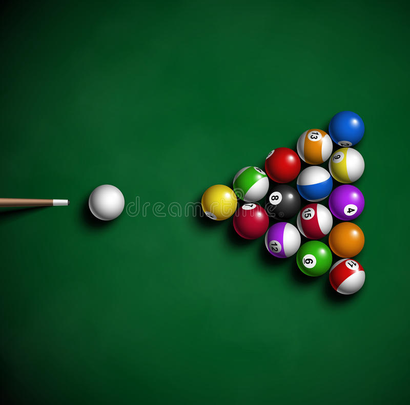 Billiard balls stock illustration