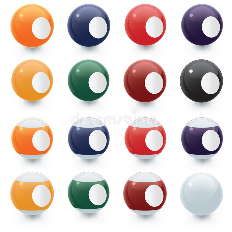 Download Billiard balls stock vector. Illustration of yellow, suits - 3476470
