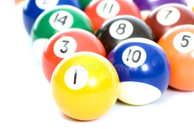 Download Billiard Balls Arranged On A White Background Stock Photo - Image: 6598678