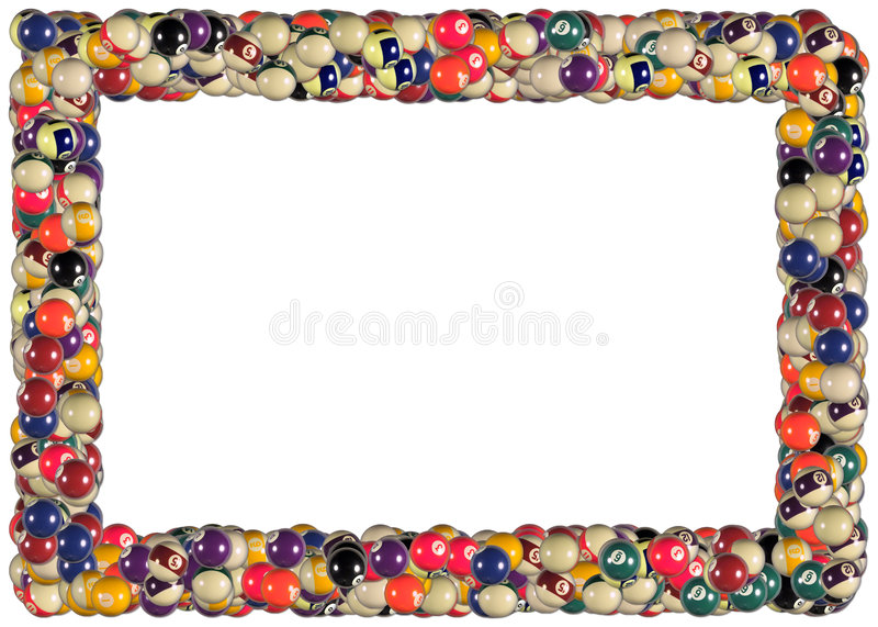 Billiard balls frame royalty free illustration