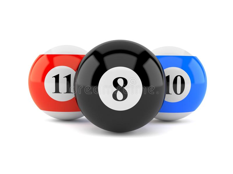 Billiard balls. Isolated on white background royalty free illustration