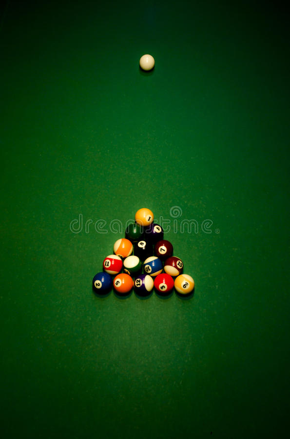 Billiard balls - pool royalty free stock image