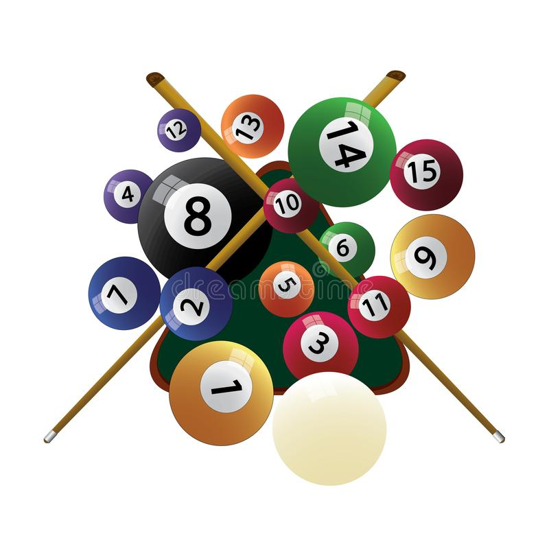 Free Billiard Cue And Pool Balls Stock Images - 141493124