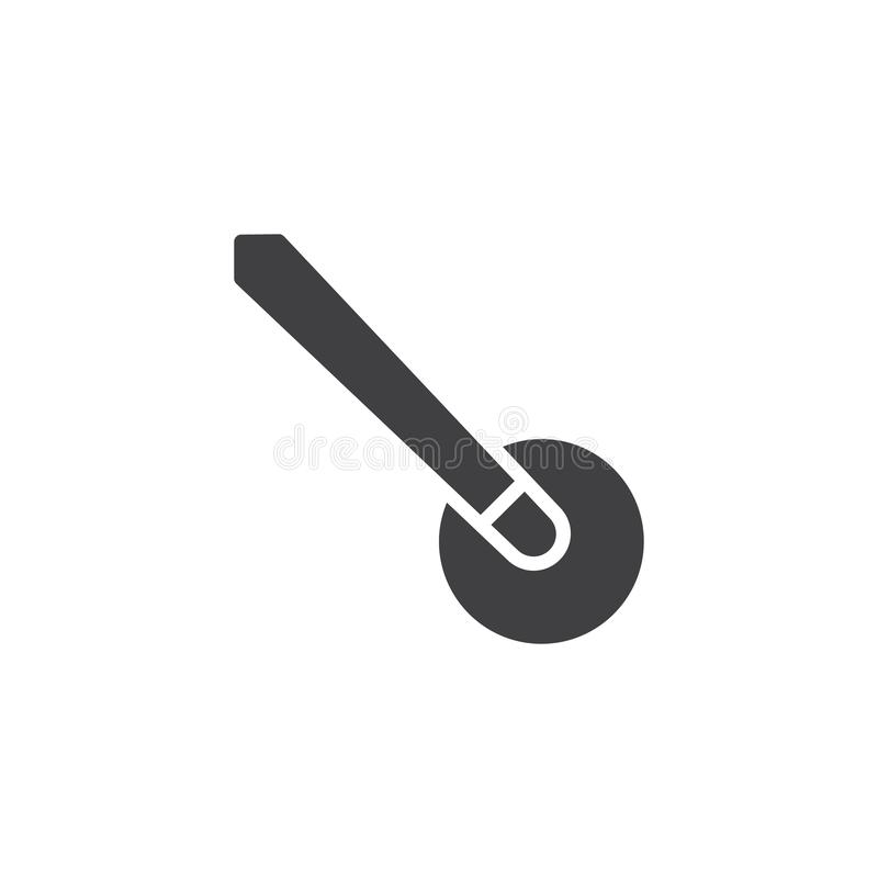 Billiard cue and ball vector icon. Filled flat sign for mobile concept and web design. Pool ball and snooker cue glyph icon. Symbol, logo illustration. Pixel vector illustration