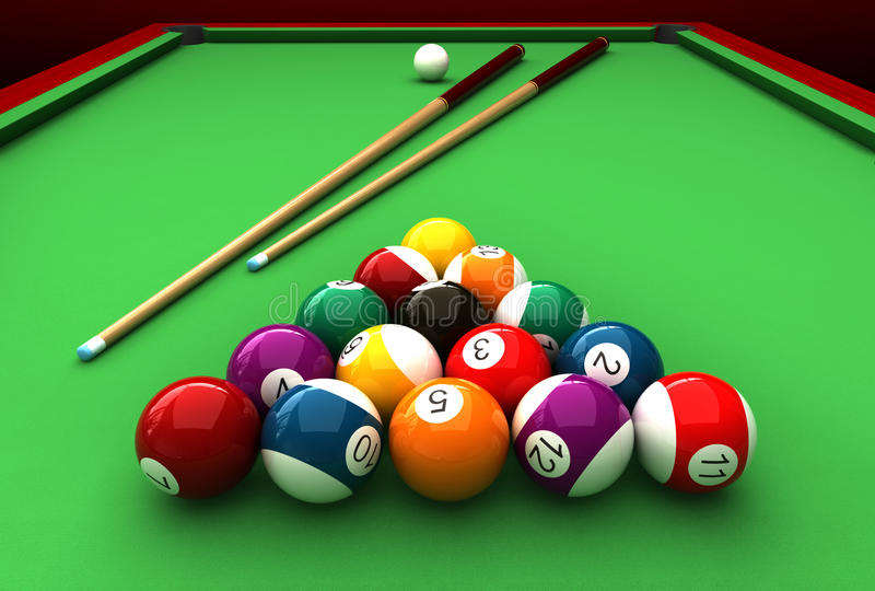 Billiard stock illustration