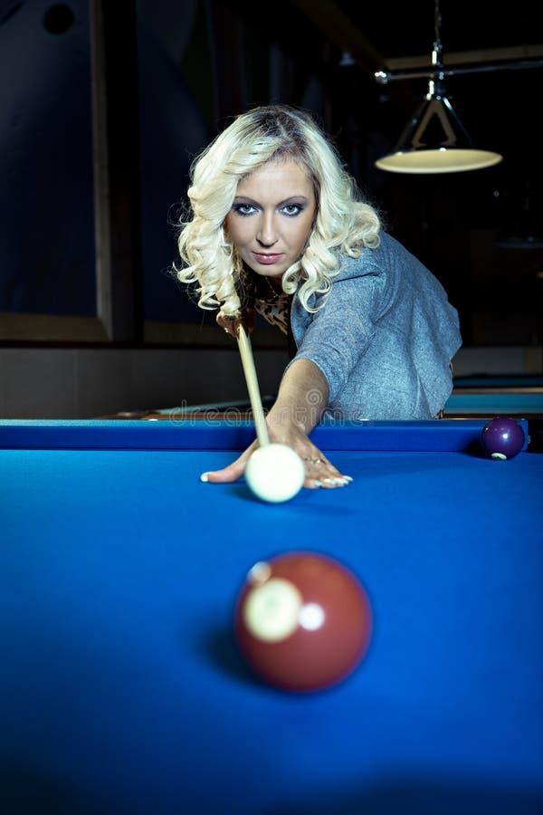 Download Billiard girl stock photo. Image of casino, saloon, room - 21783638