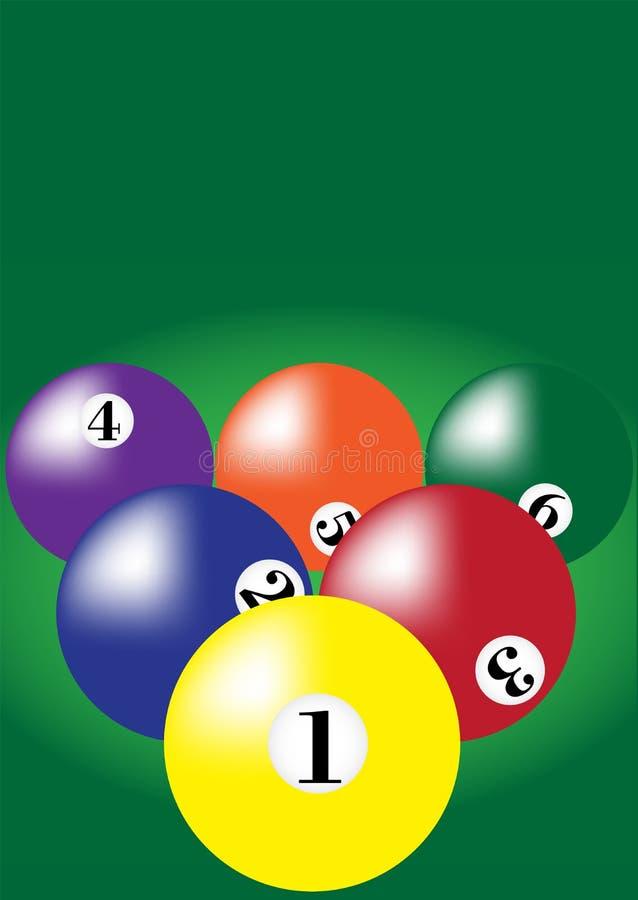 Billiard-Hintergrund vektor abbildung