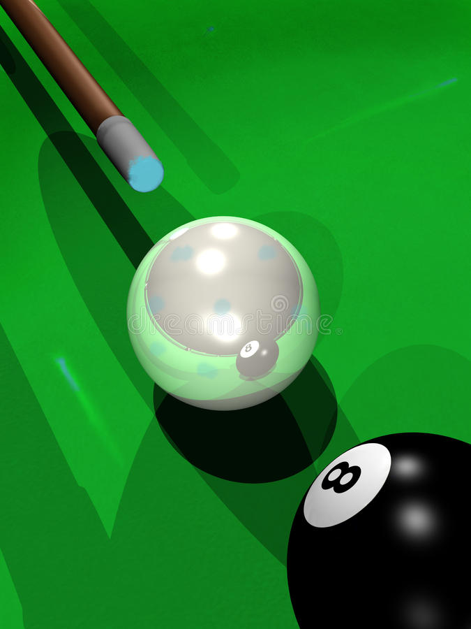 Download Billiard playing stock illustration. Image of indoor - 25558789