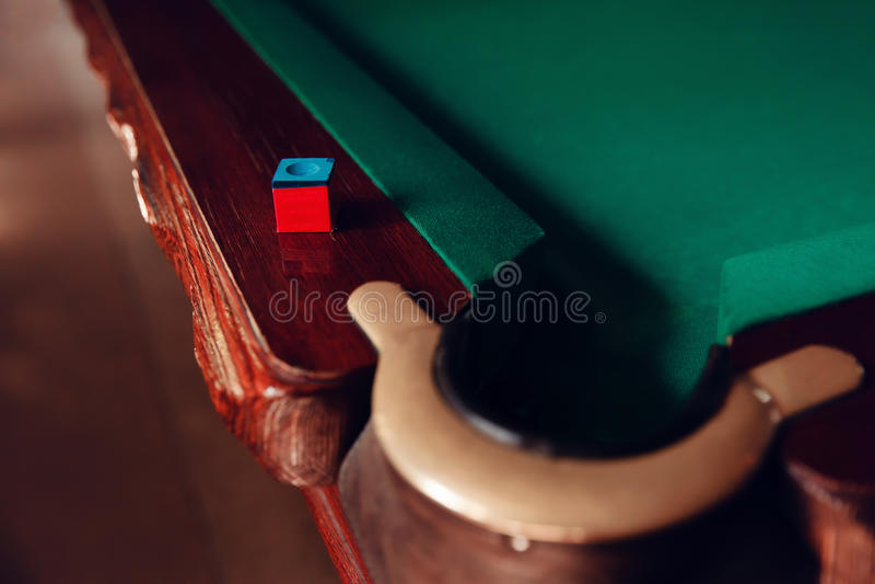 Billiard pocket stock photos