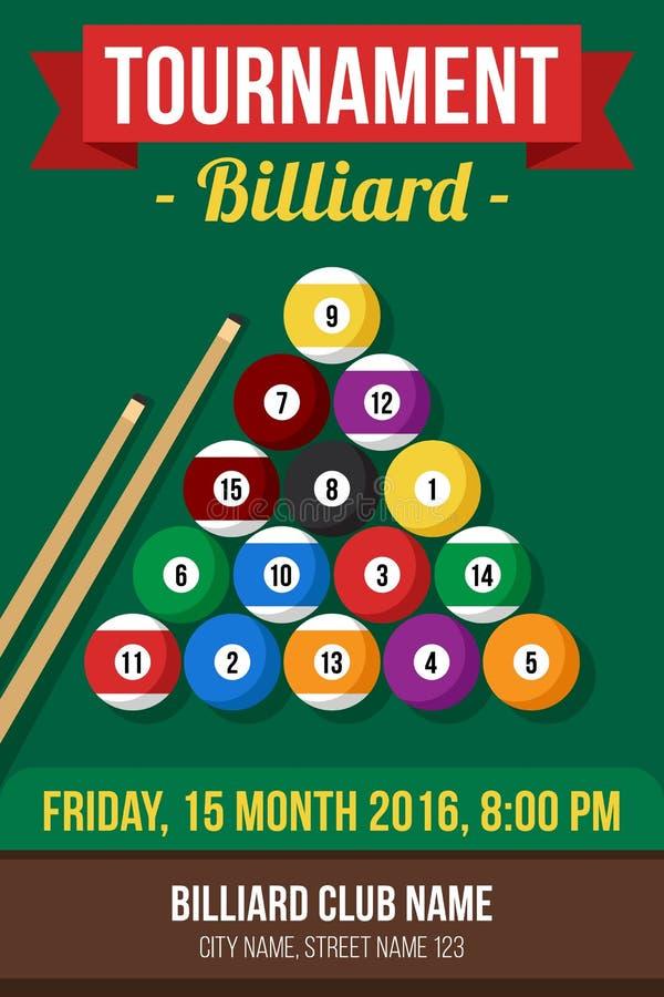 Billiard poster stock illustration