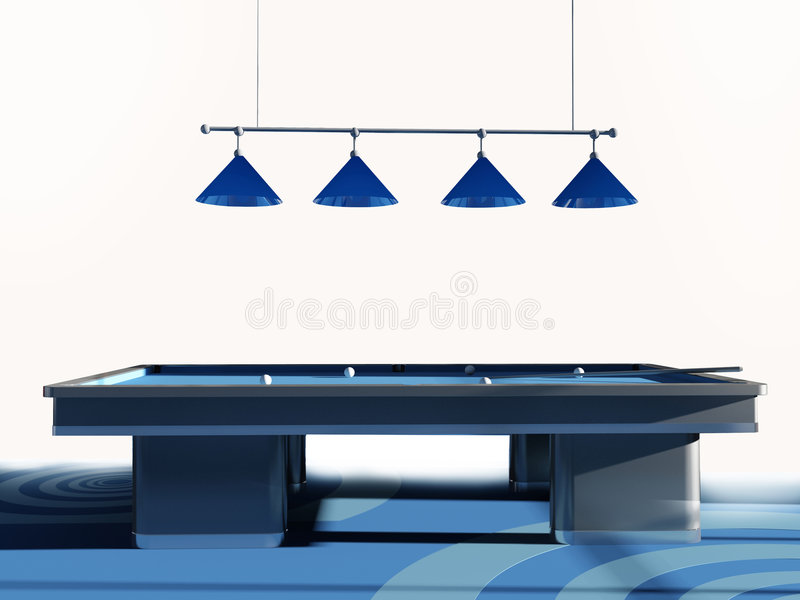 Billiard room stock illustration