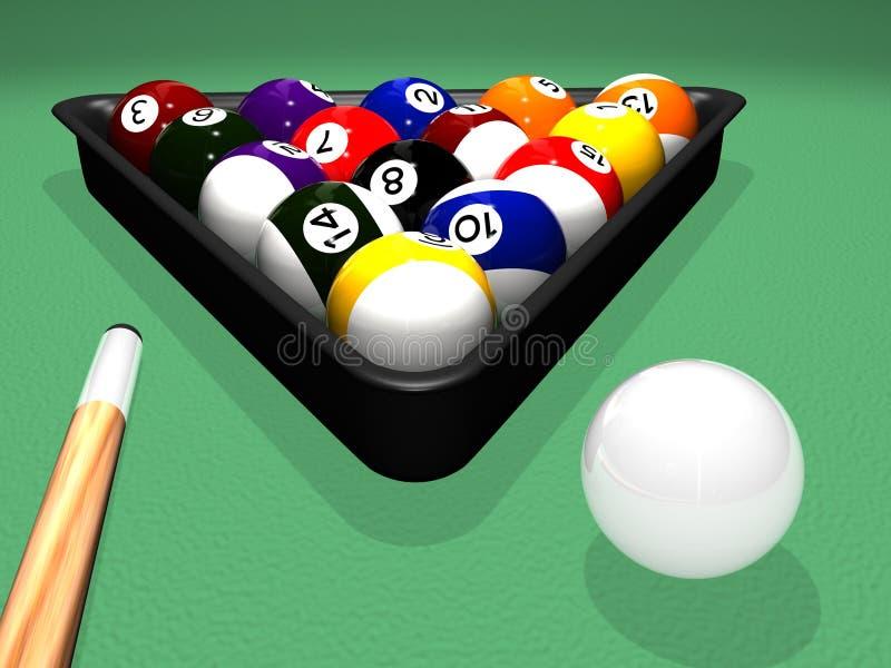Billiard-Set stock abbildung