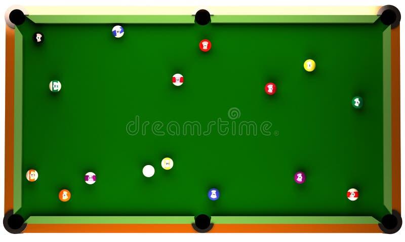 Billiard-Tabelle. stock abbildung