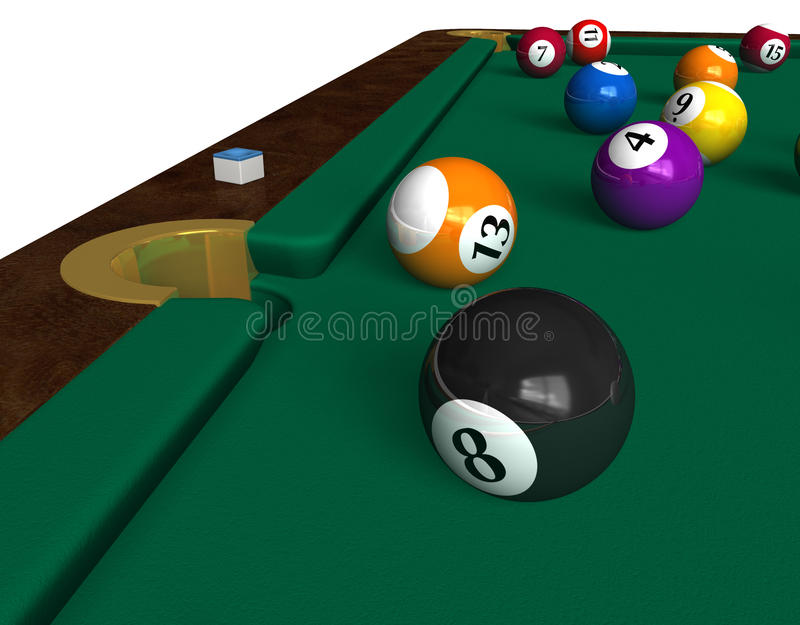 Download Billiard table stock illustration. Image of competition - 12773329